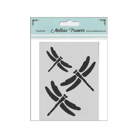 St4032 melissa frances stencil 3x4 dragonflies