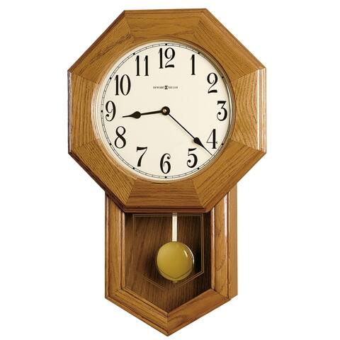 Howard Miller Elliott Classic, Vintage Schoolhouse Style, Octagonal Chiming Wall Clock, Reloj De