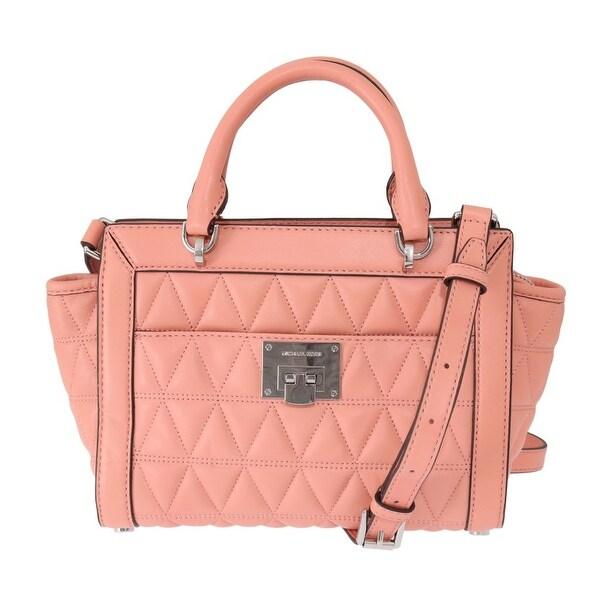 Shop Michael Kors Pink VIVIANNE Leather Messenger Women's