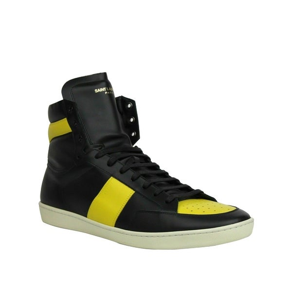 Yellow Leather High Top Sneakers 418026