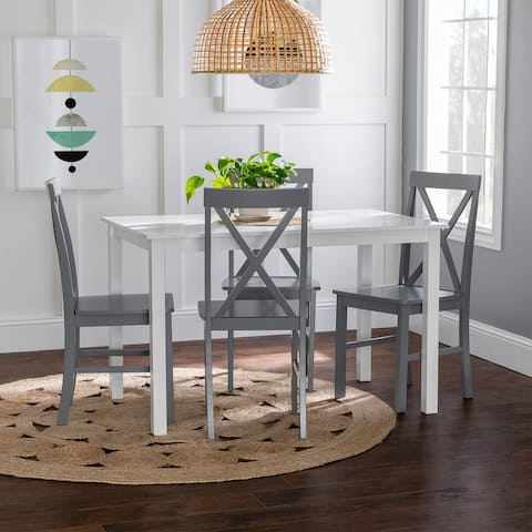 Porch & Den 5-Piece Dining Set with X-Back Side Chairs