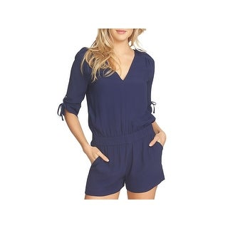 1.State Womens Romper Cut-Out Drawstring Sleeves