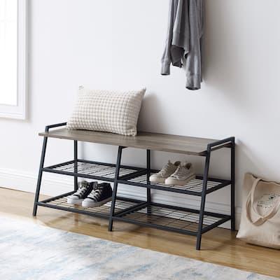 Carbon Loft Lahuri 42-inch Industrial Shelf Entry Bench