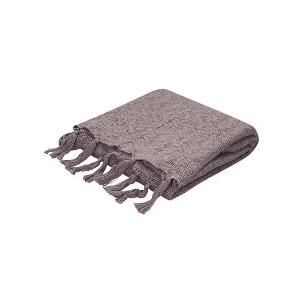 "Gray Cotton Throw - GEM07 50""x60"""