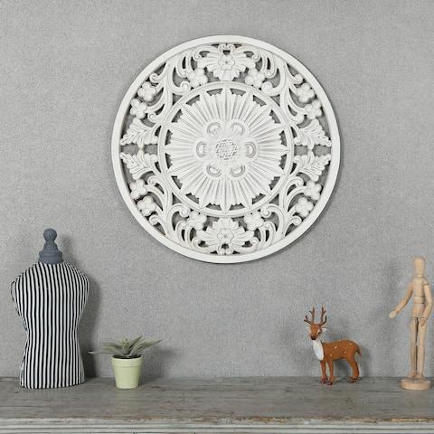 Circular Off-White Wall Decor