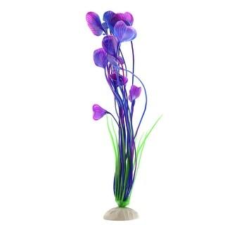 Purple Plastic Water Plant Betta Tank Aquarium Decorative Ornament Accessories