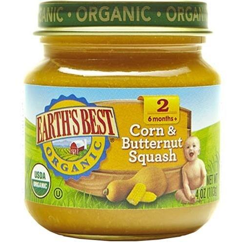 Earth's Best - Organic Corn & Butternut Squash ( 12 - 4 OZ)
