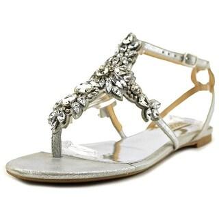 Badgley Mischka Cara II Women  Open Toe Synthetic Silver Sandals