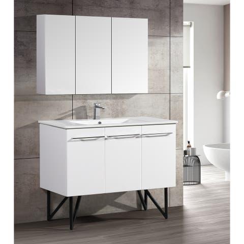 "Swiss Madison Annecy 48"" Single, Two Doors, One Drawer, Bathroom Vanity"