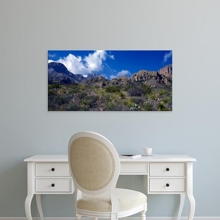 Easy Art Prints Panoramic Images's 'The Chisos Mountains Big Bend National Park TX USA' Premium Canvas Art