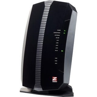Zoom Telephonics 5354-00-00 Zoom 5354 IEEE 802.11n Cable Modem/Wireless Router - 2.40 GHz ISM Band - 343 Mbit/s Wireless Speed -