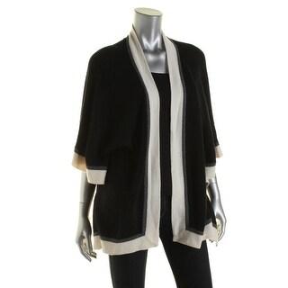 Private Label Womens Cashmere Open Front Cape Sweater - XS/S