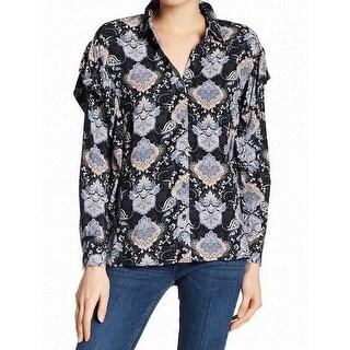 Daniel Rainn NEW Blue Womens Size Medium M Paisley Button Down Shirt
