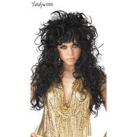 Seduction Wig, Black Curled Wig - One Size Fits most