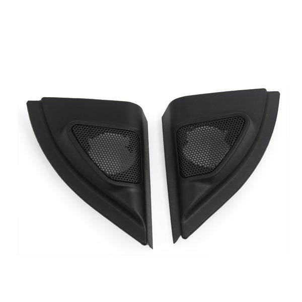 2 Pcs Plastic Black Car Horn Dustproof Cover Mesh for 2013 Toyota Vios Yaris