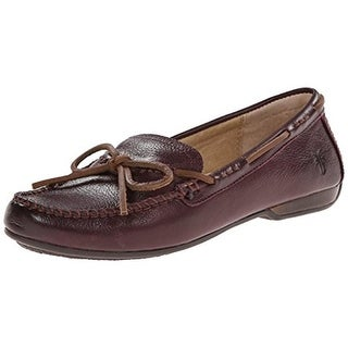 Frye Womens Janet Distressed Slip On Boat Shoes