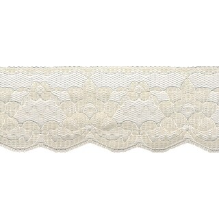 """Simplicity Double Daisy Flat Lace 2.5""""X12yd-Natural"""