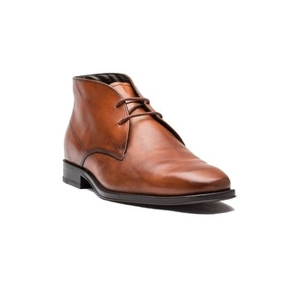 Tod's Men's Leather Polacco Cuoio Classico Tz Boot Shoes Brown