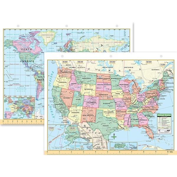 Shop Us & World Notebook Map 8-1/2 X 11 - Free Shipping On Orders ...