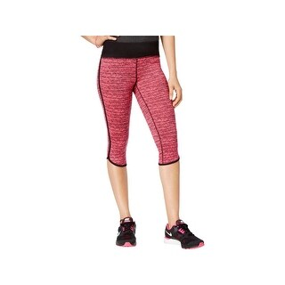 Material Girl Womens Juniors Athletic Leggings Striped Stretch