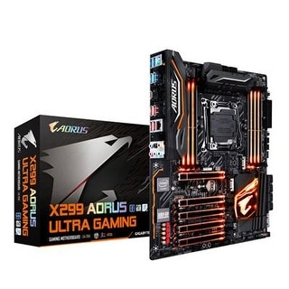 Gigabyte X299 Aorus Ultra Gaming (Intel Lga 2066 Core I9/ Atx/ 3 M.2/ Front Usb 3.1 /Rgb Fusion /Intel Lan Motherboard)