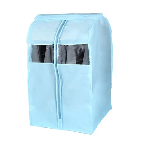 PEVA Durable Transparent Clothing Protector Suit Cover Bag Blue 88 x 50 x 58cm