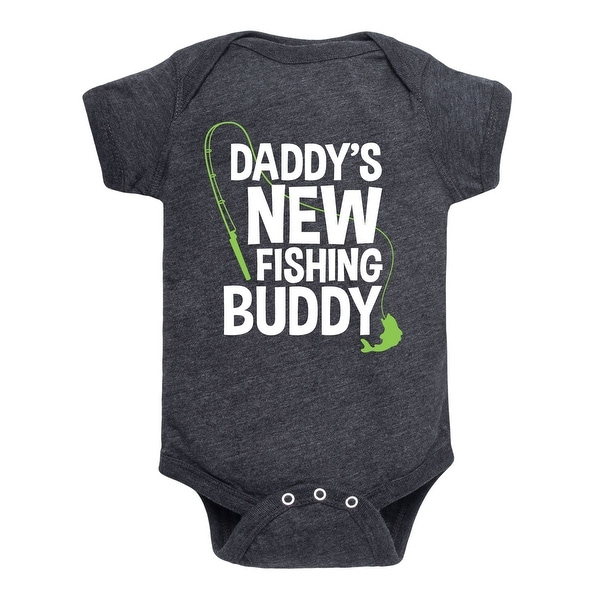 Dadddy's New Fishing Buddy, Pole - Infant One Piece