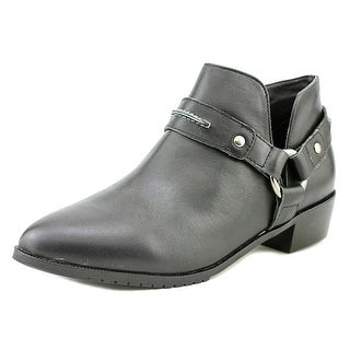 Kelsi Dagger Vermont Women Round Toe Leather Black Bootie