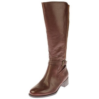 Naturalizer Womens Wynnie Knee-High Boots Wide Calf Leather