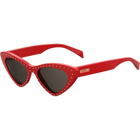 Moschino MOS006S 0C9A 52 RED FEMALE ADULT SPECIAL SHAPE Sungasses