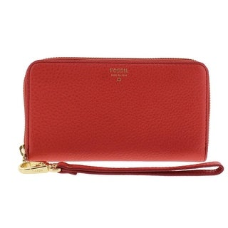 Fossil Womens Zip Around Wallet Leather Wristlet - o/s