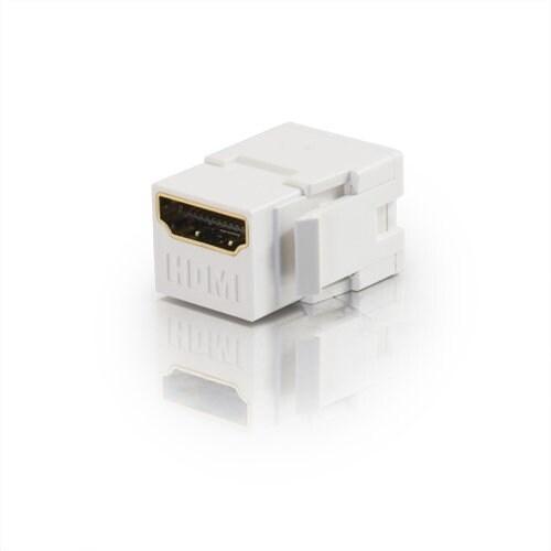 C2g 03345 Snap-In 1 X Hdmi F/F Keystone Insert A/V Connector Module, White