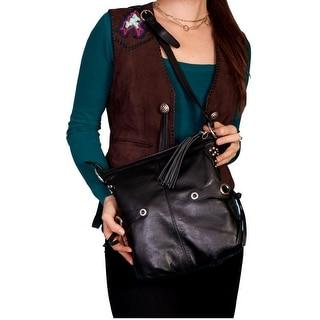 Scully Western Handbag Womens Leather Side Tie Straps Zipper B86 - One size
