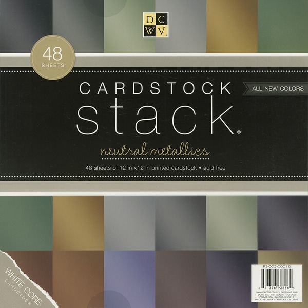 "DCWV Cardstock Stack 12""X12"" 48/Pkg-Metallic, 12 Colors/4 Each"