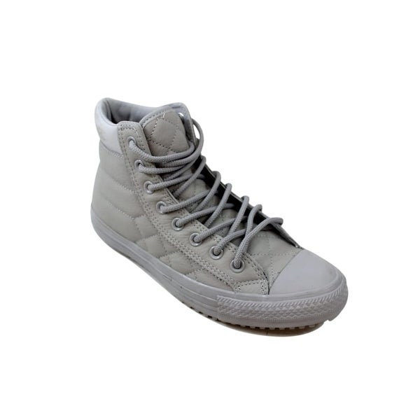 converse all star hi leather ash grey