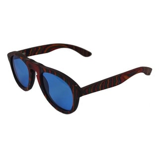 Specs of Wood Eyewear The Red Pilot Blue/Green/Red Polarized Blue Sunglasses