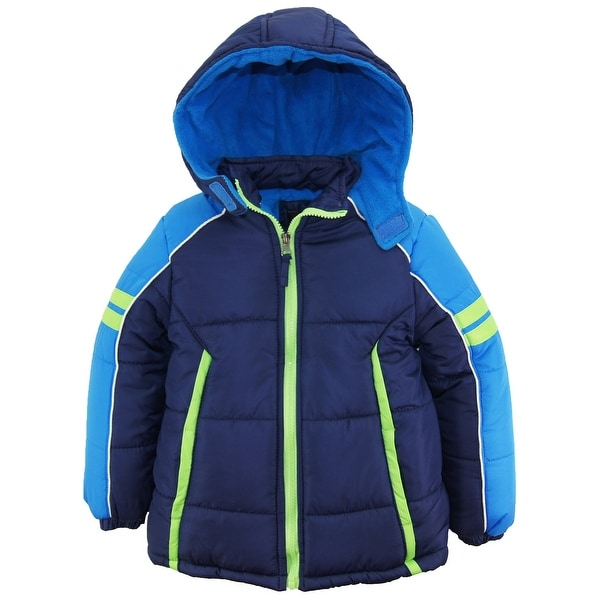 4f304d71c Shop iXtreme Toddler Boys Colorblock Active Hooded Winter Puffer ...