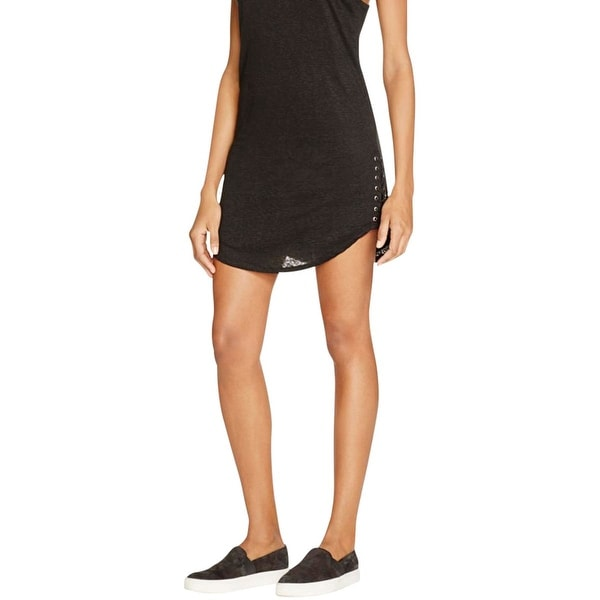 Generation Love Womens Tank Dress Linen Blend Lace-Up