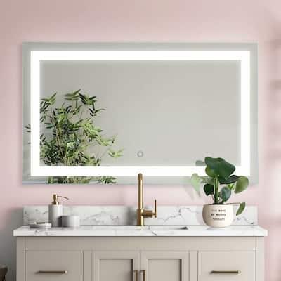 "ExBrite 24x40 Inch,Anti Fog,Led Light Vanity Mirror For Bathroom, Wall Mounted Makeup Mirror, 5000k - 40""×24"""
