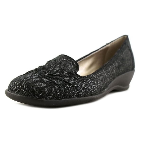 Soft Style by Hush Puppies Rory Women Round Toe Canvas Black Loafer