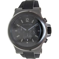 Michael Kors Men's Dylon  Black Silicone Analog Quartz Dress Watch