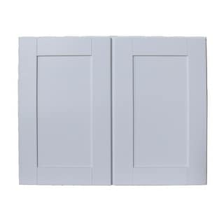 "Sunny Wood SHW3024-A  Shaker Hill 30"" x 24"" Double Door Wall Cabinet - Designer White"