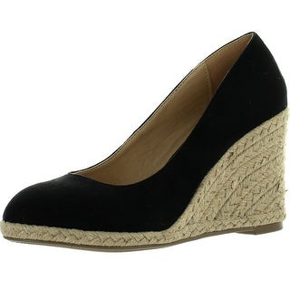 Delicious Womens Parma Round Toe Espadrille Wedge Slip On Sandals