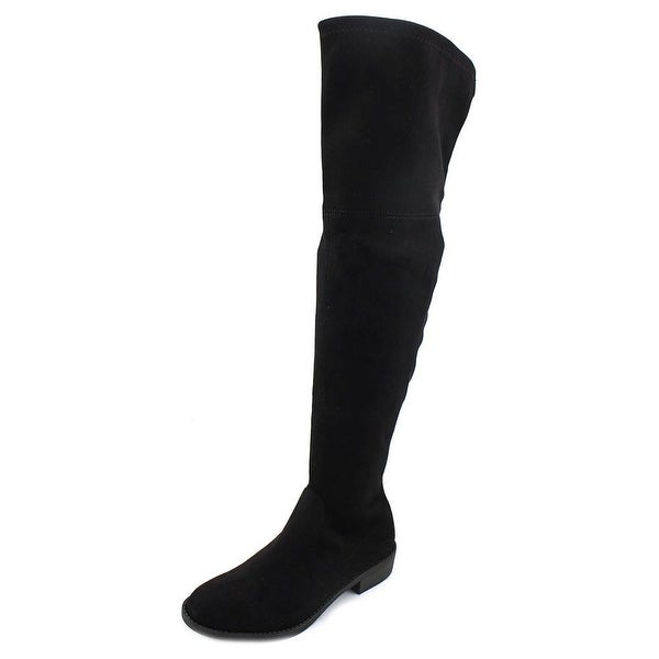 No Parking Kordial Women Round Toe Synthetic Black Over the Knee Boot