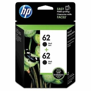 HP 62 Black Ink Cartridges T0A52AN, 2/Pack