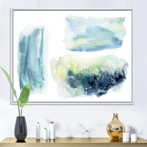 Designart 'Underwater Abstract Clouds' Modern Framed Canvas Wall Art Print