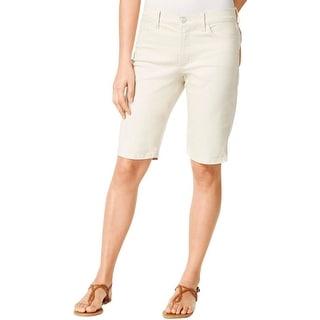 NYDJ Womens Bermuda Shorts Flat Front Slim Fit