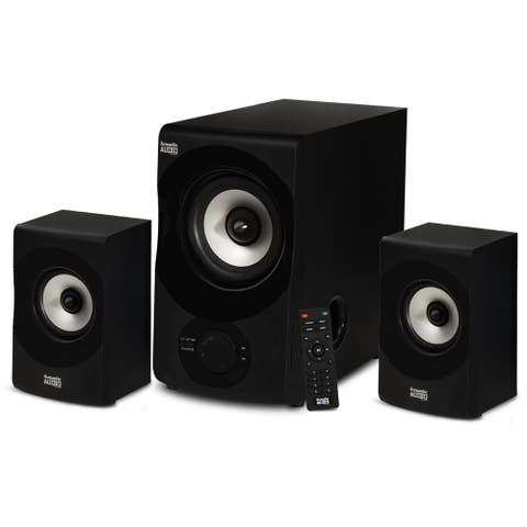 Acoustic Audio Bluetooth Home 2.1 Speaker System 3 Piece Set for Multimedia PC
