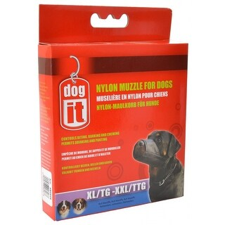 """Dog It Nylon Muzzle for Dogs XX-Large - (9.4"""" Long)"""