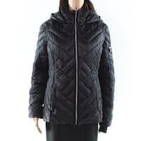 Nautica Black Women's Size Large L Chevron Quilt Puffer Jacket